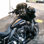 Blacked out Electra Glide